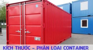 Kích thước - phân loại container